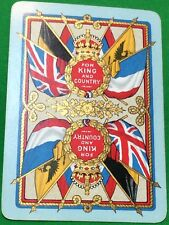 Playing Cards 1 Swap Card Old Antique Wide Military WW1 FOR KING AND COUNTRY 5