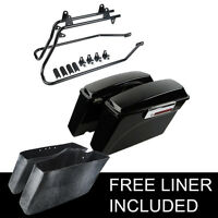 Complete Hard Saddlebags Saddle Bags Softail Conversion Brackets Kits For Harley