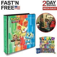 Pro Pokemon Card Album Cards Collecting Ring Binder Protector Sheets Holder X&Y