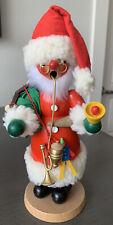"Christian Ulbricht Smoker Incense Burner Santa Bell Toys 10"" West Germany Mint"