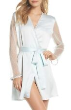 NWT $88 Flora Nikrooz Showstopper Robe in Sea Glass [SZ Large ] #2370