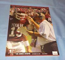 Texas A&M vs Iowa State Football Game Program Magazine 2005 Dennis Franchione