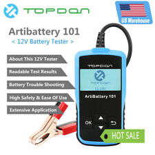 US 12V Battery Tester Automotive Check Battery Cranking Charging Test 100-200CCA
