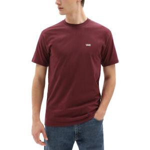 Mens Vans Left Chest Logo Tee Crew Neck T-Shirt Port Royale/White VN0A3CZEK1O