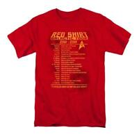 Star Trek T-Shirt RED SHIRT TOUR Original Series Men's Adult Graphic Tee Sci Fi