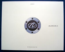 Prospekt brochure 2001 oldsmobile aurora (estados unidos) Prestige