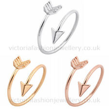 FINE ARROW RING in Silver, Gold or Rose Gold Plate. Thumb/Wrap ADJUSTABLE Love