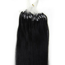"""Easy Loop Micro Ring Beads Tip Real Remy Human Hair Extensions Straight 16-26"""""""