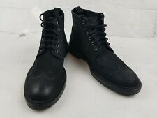 KG Kurt Geiger Men's Black Suede Leather Boot Ankle Shoes Size 43 US 10 Great**