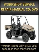 2004 05 06 07 Yamaha Rhino Yxr660 Oem Owners Manual Service Repair Manual Ebay