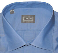 NWT IKE BEHAR FRENCH BLUE PLAIN WEAVE CLASSIC FIT DRESS SHIRT 17 34/35
