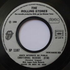 THE ROLLING STONES EMOTIONAL RESCUE VERSION LONGUE PROMO SP 1107 FRENCH SP 1980