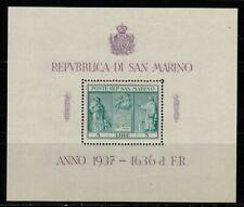 San Marino #185 S/Sheet of 1 1937 MNH