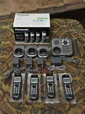 New ListingPanasonic kx-tg9344t dect 6.0 Cordless Phone System w/ Answering Machine