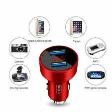 Dual USB Car Charger Voltmeter Meter Led Charger Power Adapter Socket Hammer