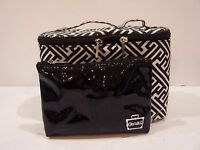 NEW CABOODLES CASE MAKEUP ORGANIZER 2 pc travel lunch box tote bag purse set