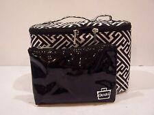 NEW CABOODLES CASE MAKEUP ORGANIZER 2 pc travel lunch box tote bag purse set