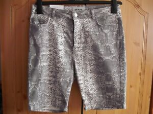 New look snake print 12 grey denim shorts new with tags