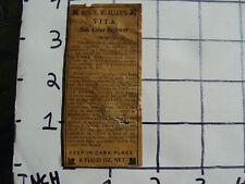 Orig Medicine label: Early Mrs. R.W. Allen's VITA Hair Color Restorer