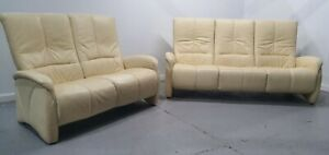 Himolla Leather 3 seater & 2 seater recliner sofa. 1712201