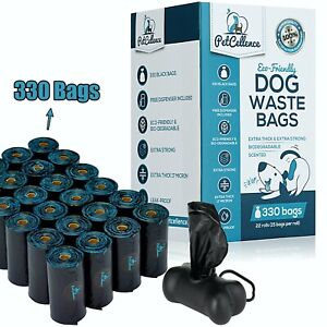 PetCellence Biodegradable Dog Poo Bags 330/660 Poop Waste Bags Roll Eco Friendly