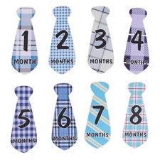 Baby Boy Letter Monthly Necktie Milestone Stickers Photo Prop N3