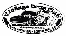 "NHRA Funny Car Drag Racing Decals 8"" oval"