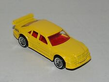 Hot Wheels Mercedes C-Class Yellow - Clear Windows Red Interior - Malaysia 1999