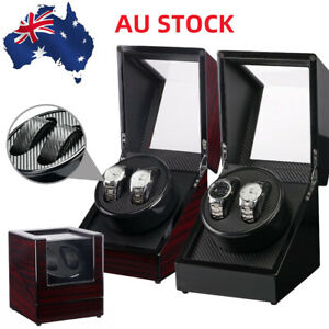 Luxury Watch Winder Piano Wood Display Case Crafted Leather Storage Gift