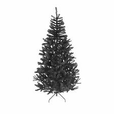 6ft Black Artificial Christmas Tree With Metal Stand Traditional Bushy Xmas Tree