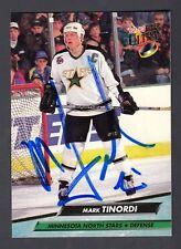 Mark Tinordi Hand Signed 1992-93 Ultra Hockey Card  98 North Stars Captain 833bc4173