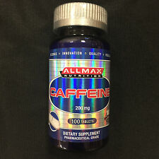 ALLMAX NUTRITION CAFFEINE 200MG 100 TABLETS ENERGY FAT BURNING MENTAL FOCUS NEW