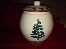 "FURIO Christmas Tree 9 1/2"" tall Cookie Jar w/Lid, GoodCondition,no chips/cracks"