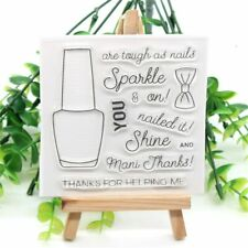 Nail Polish Transparent Clear Silicone Stamp DIY Scrapbooking Card paper Craft