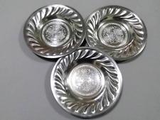 Set 3 pieces Aluminum Dinnerware Dish Plate Round Kitchen silverware Flatware