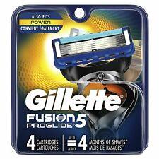 Gillette Fusion 5 Proglide Razor Blades 5 NEW Genuine 100% Orginal
