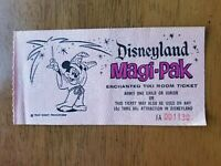 RARE Vintage Enchanted Tiki Room Ticket Walt Disney Disneyland