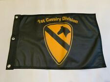 """1st Cavalry Division """"Black"""" MILITARY Flag 12"""" x 18""""  Polyester Army US Seller"""