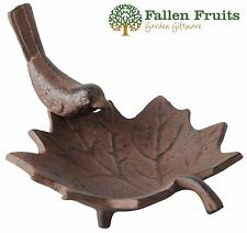 Fallen Fruits Cast Iron Garden Small Bird Bath Table Feeder
