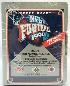 1991 Upper Deck High Series NFL Football card Factory Set (BOXED) - GREAT VALUE