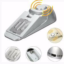 100dB Home Security Door Stop Stopper Floor Rubber Warning Alarm System Wedge