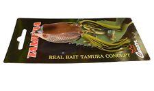 super frog rana artificiale 6cm brown galleggiante top water black bass luccio