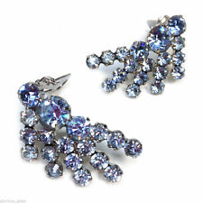 Juliana Blue Rhinestone Earrings