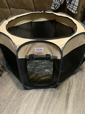 New listing Heart To tail Foldable Pet playpen 33� Wide X 23� Tall. Has Door And Roof