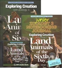 Apologia Zoology 3: Land Animals SET-Textbook, JUNIOR Notebook, & MP3 CD