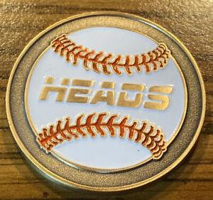 New Style White Baseball Umpire Flip Coin