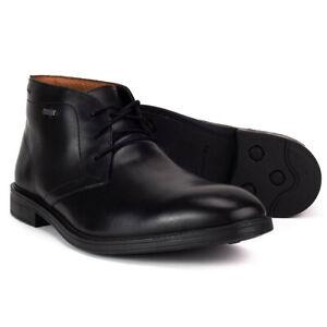 Clarks Chilver Hi GTX Bottines Hommes Goretex Noir Chaussures Habillées à Lacets