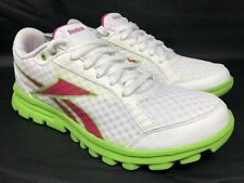 Reebok YourFlex White, Pink, Green Running Sneakers Size Size 8.5