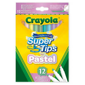 12 Pack of Pastel SuperTips Felt Tips Pens from Crayola