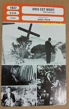US Drama The Fugitive Henry Fonda John Ford French Film Trade Card